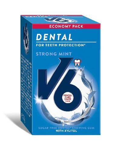 V6 Dental Care tyggegummi strong mint 72g