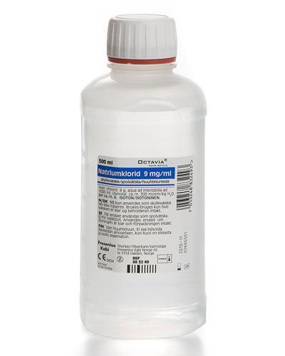 Natriumklorid 9 mg/ml helleflaske 500ml