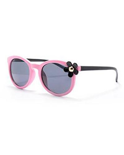 Swing solbrille til barn rosa med blomst 1stk