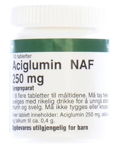 Aciglumin NAF 250mg tabletter 100stk