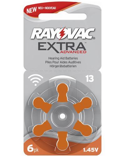 Rayovac extra advanced 13 høreapparatbatterier 6stk