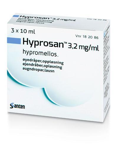 Hyprosan Øyedråper, oppløsning 3,2 mg/ml 3x10ml