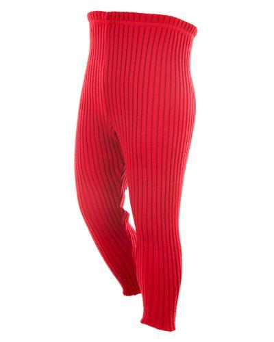 WE bukse 100% ull rød str 5-6år 1stk