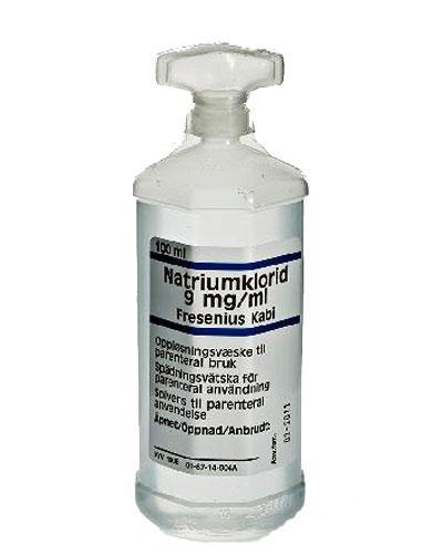 Natriumklorid FreKabi 9mg/ml parenteral hetteglass 10x100ml