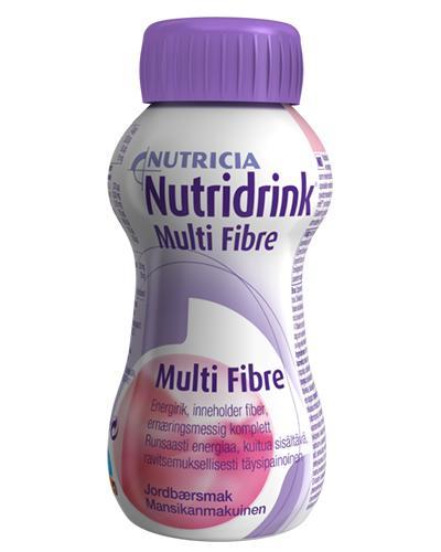 Nutridrink Multi Fibre næringsdrikk jordbær 200ml