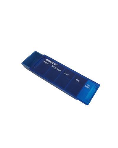 Anabox dagsdoseringseske mørk blå 1stk