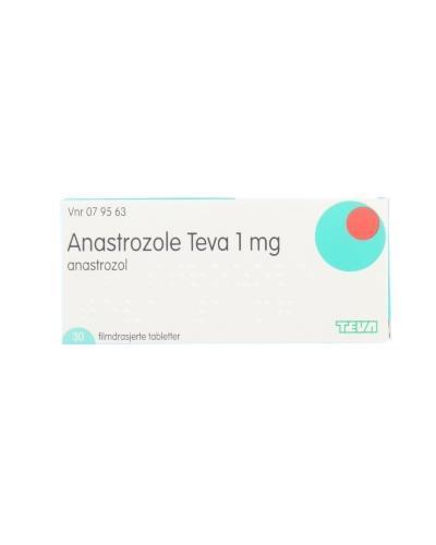 köpa bäst officiell leverantör rabattkod Anastrozole Teva Tablett, filmdrasjert 1 mg 30stk - Apotek 1