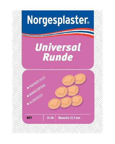 Norgesplaster universal runde plaster 20stk