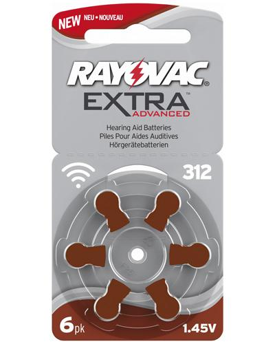 Rayovac extra advanced 312 høreapparatbatterier 6stk