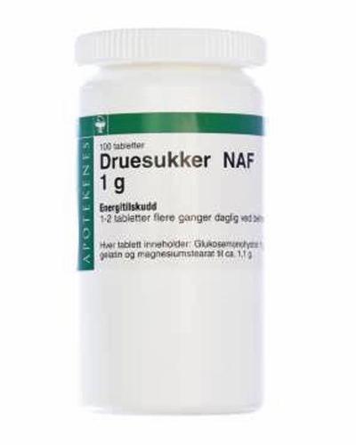 Druesukker NAF 1 g tabletter 100stk