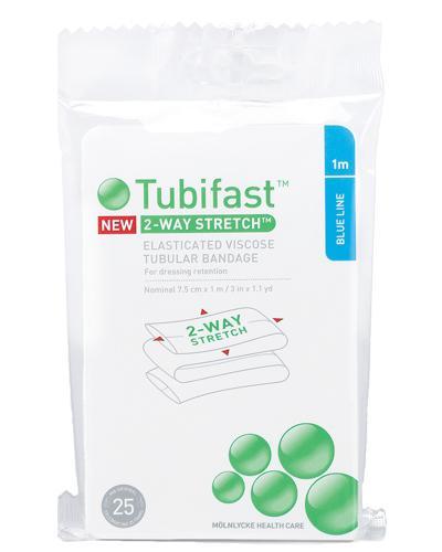 Tubifast tubulær bandasje 7,5cmx1m blå 1stk