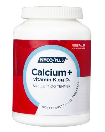 Nycoplus Calcium med K-og D3-vitamin tabletter 100stk
