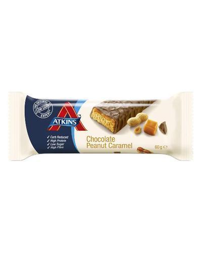 Atkins Advantage bar sjokolade, peanøtt, karamell 60gr