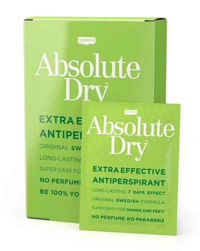 Absolute Dry antiperspirant våtservietter 10stk