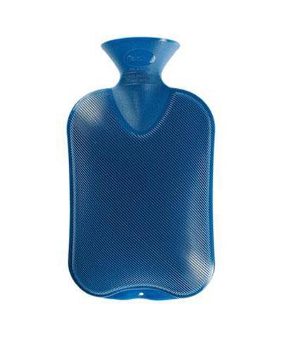 Fashy varmeflaske standard safirblå 1stk