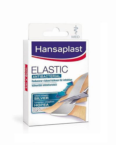 Hansaplast med elastic plaster 6x10cm 10stk