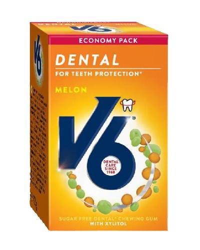 V6 Dental Care tyggegummi melon 50stk