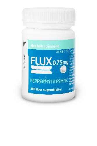 Flux 0,75mg sugetabletter peppermynte 200stk