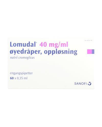 6cd9e10f4 Lomudal Øyedråper, oppløsning 40 mg/ml 60x0,35ml - Apotek 1