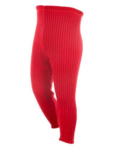 WE bukse 100% ull rød str 3-4år 1stk