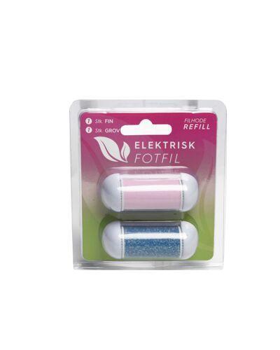 Elektrisk fotfil refill grov og fin 2stk