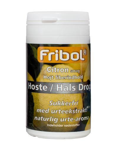 Fribol Hoste/Hals sukkerfrie drops sitron 60g