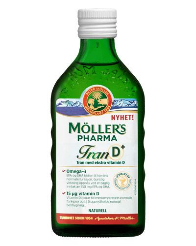 Möller's Pharma tran D+ naturell smak 250 ml