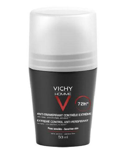 Vichy Homme antiperspirant roll-on 72 timer 50ml