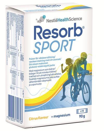 Resorb Sport væskeerstatning sitronsmak 10x9,2g