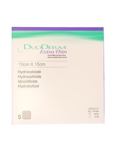 Duoderm tynn hydrokolloid bandasje 15x15cm 5stk