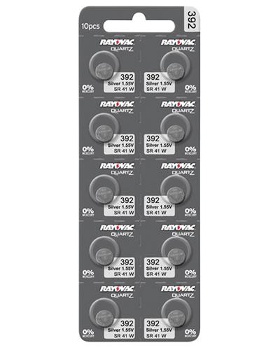 Rayovac silver SR41/392 1,55V batterier 10stk