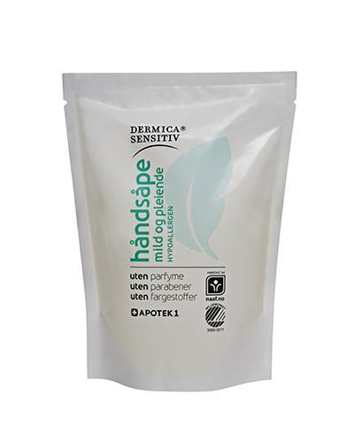 Dermica Sensitiv håndsåpe refill uten parfyme 250ml