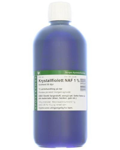 Krystallfiolett NAF 1% liniment til dyr 500ml