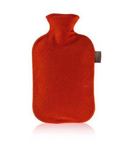 Fashy varmeflaske med fleecetrekk tranebærrød 1stk