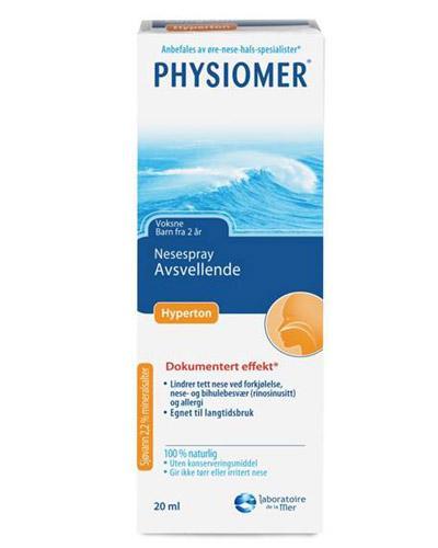 Physiomer nesespray hypertont saltvann 20ml