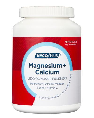 Nycoplus Magnesium + calcium tabletter 100stk