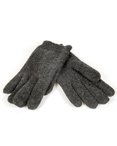 WE hansker herre 100% ull grå 1par