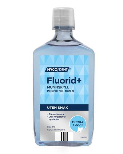 Nycodent Fluorid 0,2% munnskyll uten smak 500ml