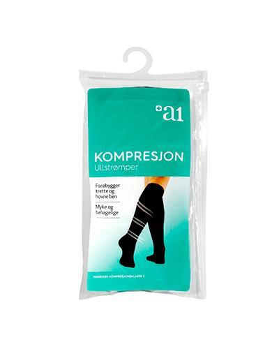 a1 Kompresjon ullstrømper 46/47 1par