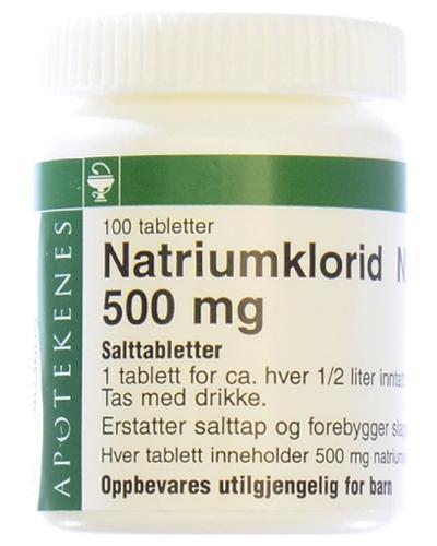 Natriumklorid NAF 500mg tabletter 100stk