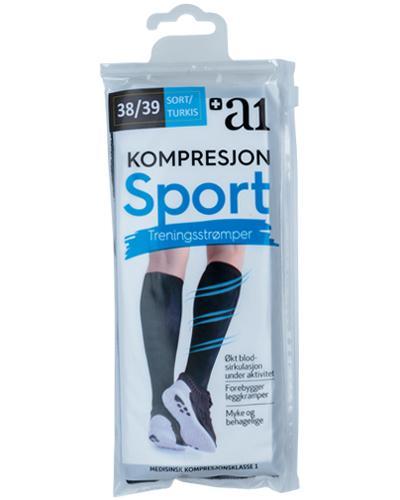 a1 Kompresjon Sport treningsstrømper turkis 38/39 1par