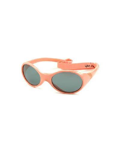 Solbrille med strikk 2-4 år korall 1stk