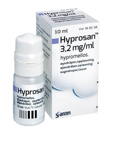 Hyprosan Øyedråper, oppløsning 3,2 mg/ml 10ml