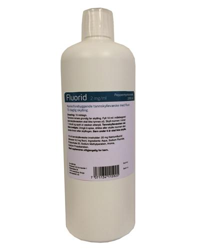 Fluorid ep1 tannskyll 2mg/ml med smak 1000ml