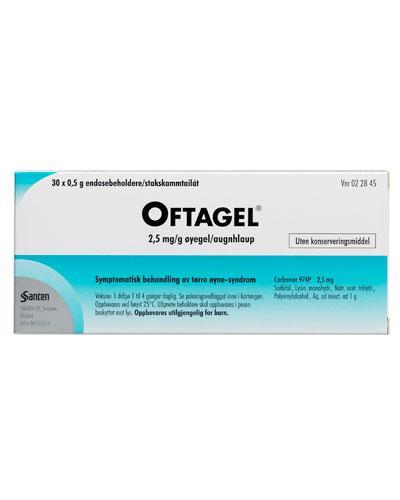 Oftagel Øyegel 2,5 mg/g 30x0,5g