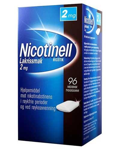 Nicotinell 2mg tyggegummi lakris 96stk