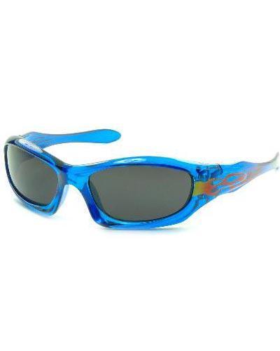 Solbrille 2-8 år blå med flamme 1stk