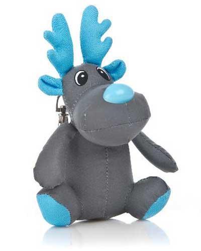 Refleksdyr reinsdyr blå 1stk