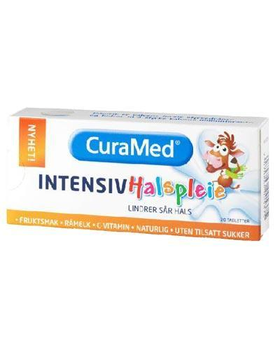 Curamed Intensiv Halspleie råmelktabletter frukt 20stk