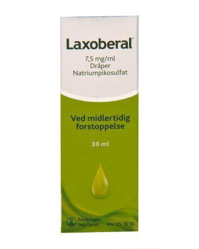 Laxoberal 7,5mg/ml dråper 30ml